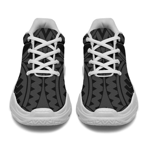 Polynesian Tradition Gray Chunky Sneakers - AH - J11