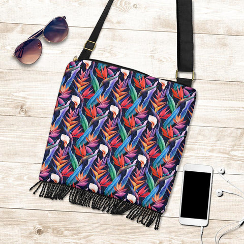 Hawaii Tropical Flower Crossbody Boho Handbag - AH - J71 - Alohawaii