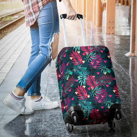 Tropical Pattern Luggage Cover - AH - J1 - Alohawaii
