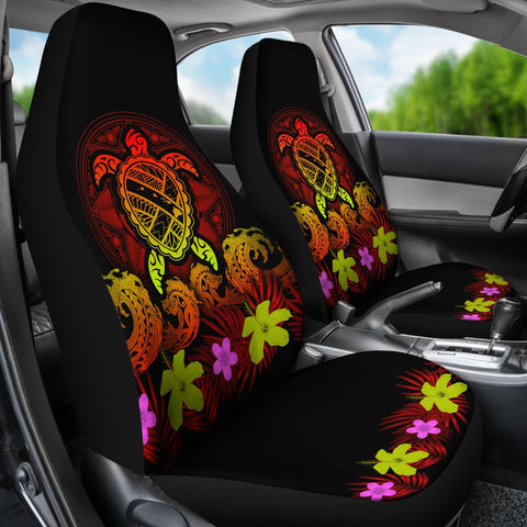 Hawaii Turtle Polynesian Red Car Seat Cover - Kuly Style - AH - J4