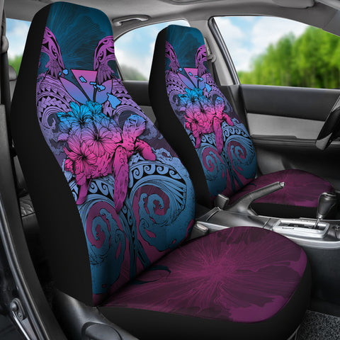 Image of Hawaii Turtle Wave Polynesian Car Seat Cover - Hey Style Blue - AH - J4 - Alohawaii