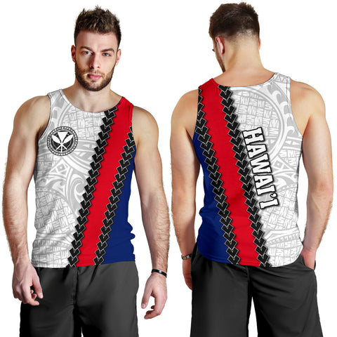 Hawaii Kakau Flag Polynesian Men's Tank Top
