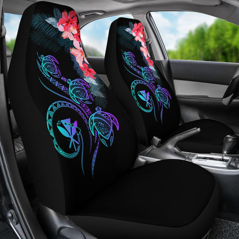 Image of Hawaii Turtle Polynesian Tropical Car Seat Cover - Cora Style Purple - AH - J4