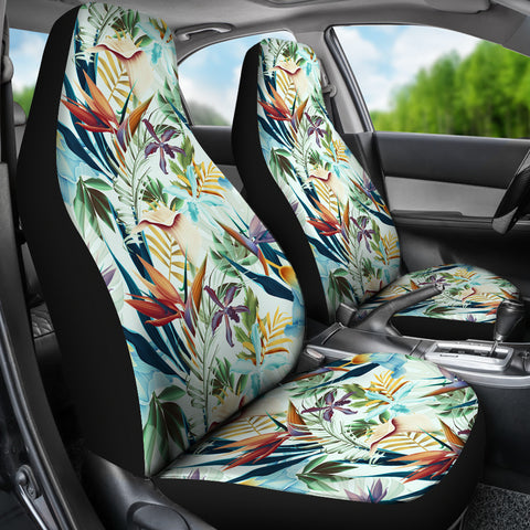 Hawaiian Tropical Flower, Plant And Leaf Pattern Car Seat Cover - AH - J7 - Alohawaii