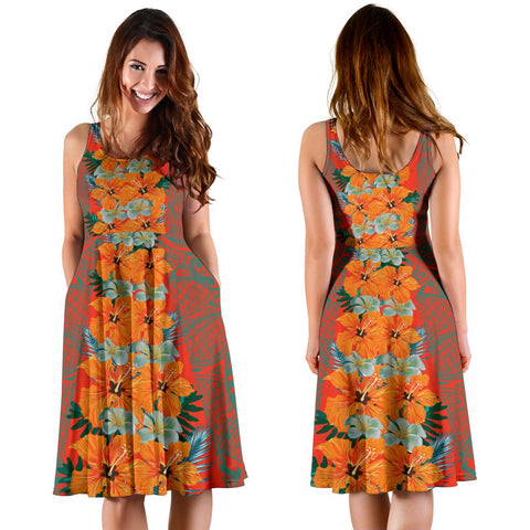 Hawaii Tropical Flowers Polynesian - Hawaiian Women's Dress - Curtis Style - AH - J2