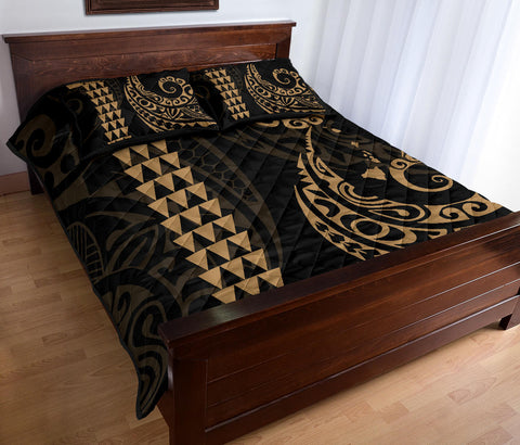 Image of Alohawaii Quilt Bed Set - Hawaii Polynesian Quilt Bed Set Gold - AH J4 - Alohawaii