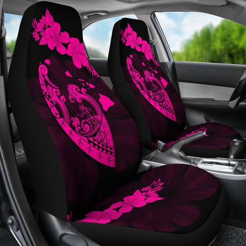 Image of Hawaii Hibiscus Banzai Surfing Car Seat Cover V2 Pink - AH - J5 - Alohawaii