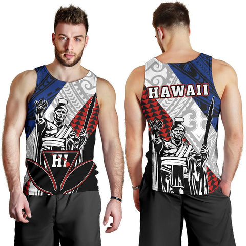 Hawaii Kanaka Cover Kakau Polynesian King Men's Tank Top