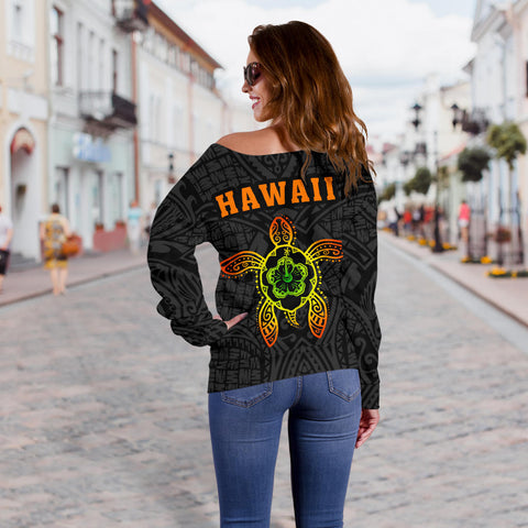 Hula Girl Women's Off Shoulder Sweater