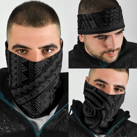 Image of Polynesian Tatau Mixed Gray Set Unisex Bandana - AH J0 - Alohawaii