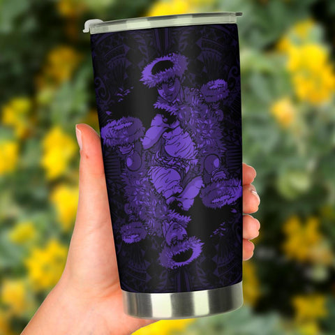Hawaii Polynesian Hula Girl Tumbler Purple - AH - J5 - Alohawaii