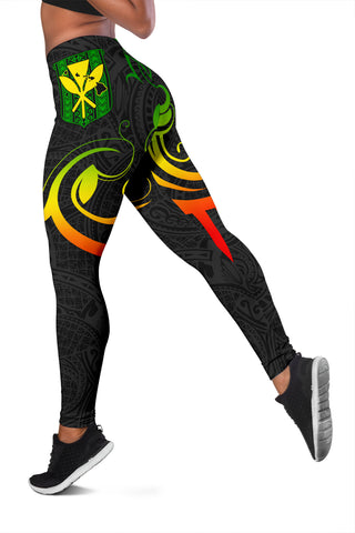 Hawaiian Kanaka Women's Leggings Hawaii Always In My Heart AH J1