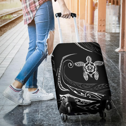 Hawaii Turtle Hibiscus Luggage Covers - White - Frida Style - AH - J96 - Alohawaii