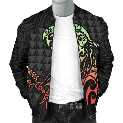 Hawaii Warrior And Hook Men's Bomber Jacket - AH J4 - Alohawaii