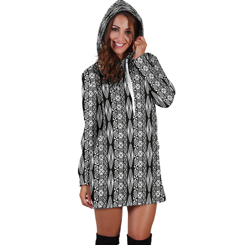 Polynesian Tribal Hoodie Dress 03 - AH - J7