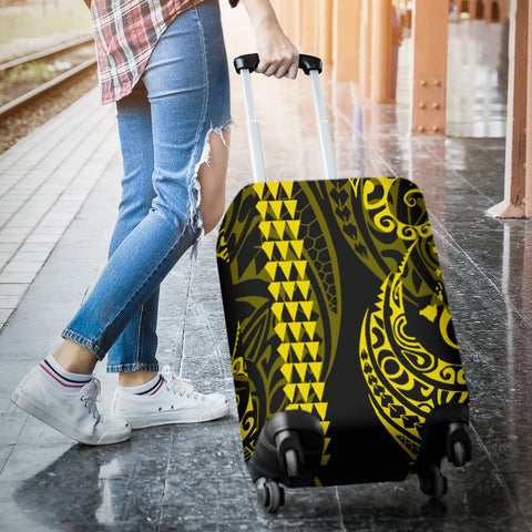 Hawaii Kakau Yellow Polynesian Luggage Covers - AH - J1 - Alohawaii
