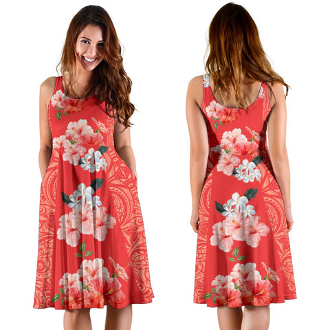 Hawaii Hibiscus Polynesian - Hawaiian Midi Dress