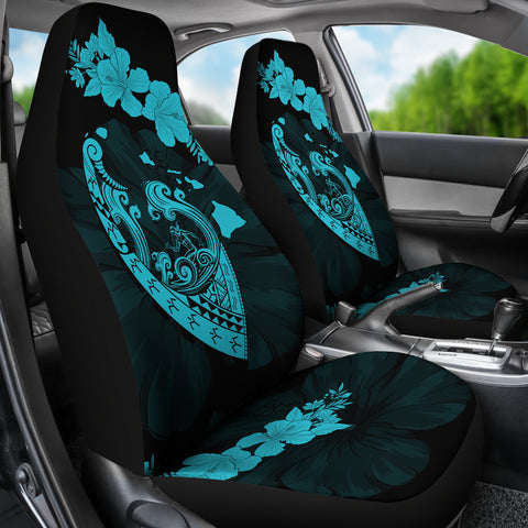 Image of Hawaii Hibiscus Banzai Surfing Car Seat Cover V2 Blue - AH - J5 - Alohawaii