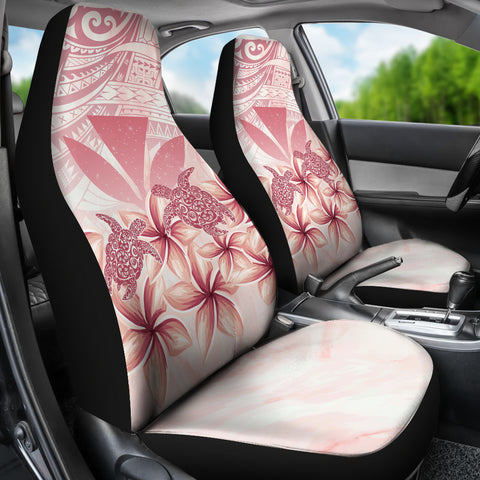 Hawaii Turtle Kanaka Plumeria Polynesian Pink Car Set Covers - AH - J4 - Alohawaii