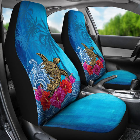 Image of Hawaii Sea Turtle Hibiscus Coconut Tree Car Seat Cover - AH - J4 - Alohawaii