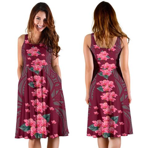 Hawaii Hibiscus Flowers Polynesian - Hawaiian Women's Dress