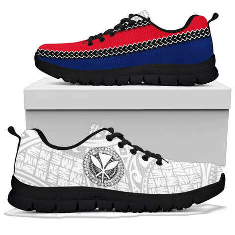 Image of Hawaii Kakau Flag Polynesian Sneakers - AH - J4