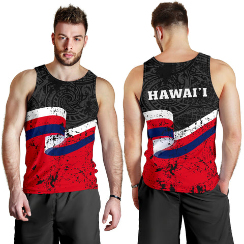 Hawaii Flag Polynesian Men's Tank Top