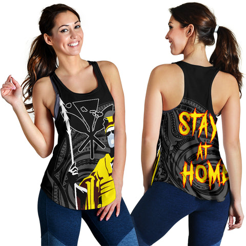 Hawaii Stay At Home King Women's Racerback Tank