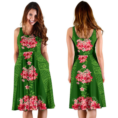 Hawaii Tropical Flowers Polynesian - Hawaiian Women's Dress