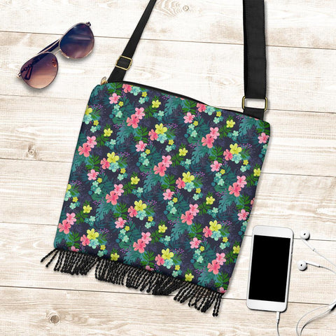 Hawaii Tropical Hibiscus Crossbody Boho Handbag - AH - J71 - Alohawaii