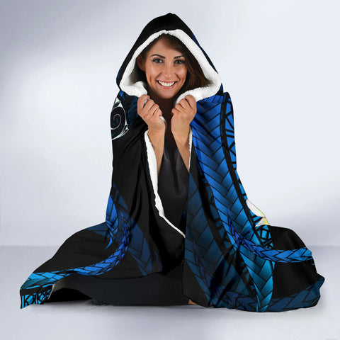 Hawaii Turtle Plumeria Polynesian Hooded Blanket - Mela Style - AH - J4 - Alohawaii