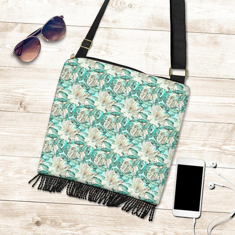 Hawaii Tropical Blue Crossbody Boho Handbag - AH - J71 - Alohawaii