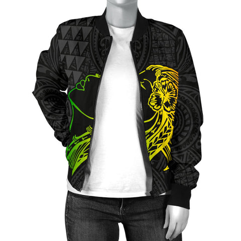 Image of Hula Girl And Turtle Women's Bomber Jacket