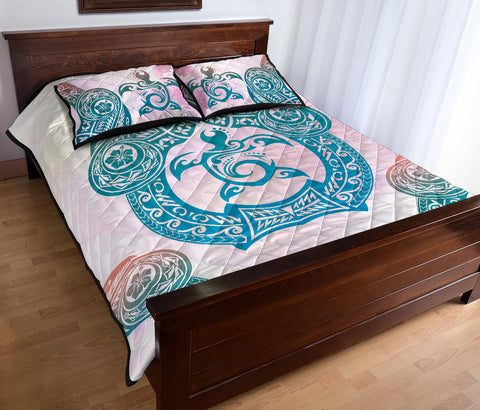 Hawaii Quilt Bed Set Polynesian Turtle
