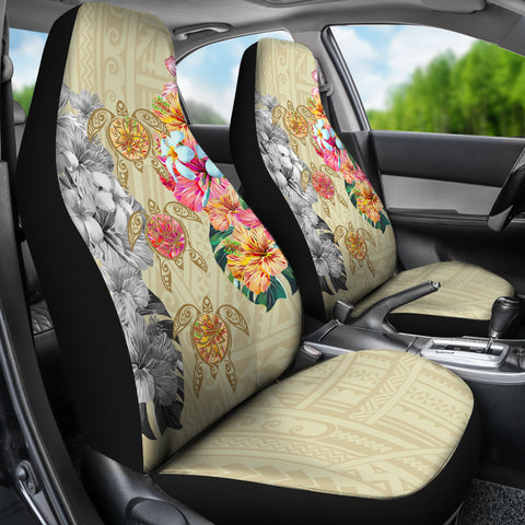 Hawaii Polynesian Flowers Swimming Turtles Car Seat Covers - AH - J5 - Alohawaii