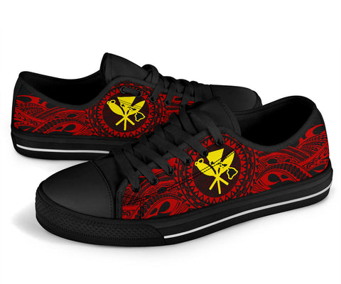 Hawaii Kanaka Map Polynesian Low Top Shoes - TT Style - AH - J6 - Alohawaii