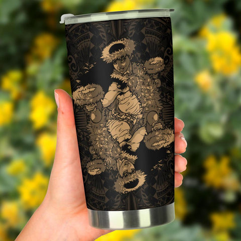 Image of Hawaii Polynesian Hula Girl Tumbler Gold - AH - J5 - Alohawaii