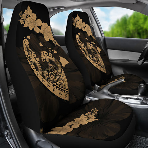 Hawaii Hibiscus Banzai Surfing Car Seat Cover V2 Gold - AH - J5 - Alohawaii