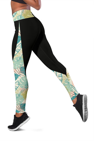 Hawaii Tropical Plants Pattern Leggings - AH J9 - Alohawaii