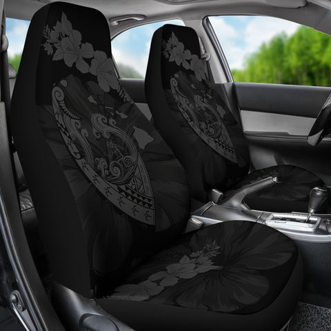 Hawaii Hibiscus Banzai Surfing Car Seat Cover V2 Grey - AH - J5 - Alohawaii