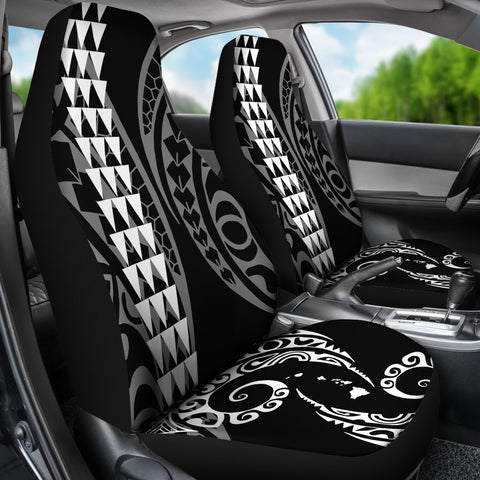 Image of Hawaii Kakau White Polynesian Car Seat Covers - AH - J1 - Alohawaii