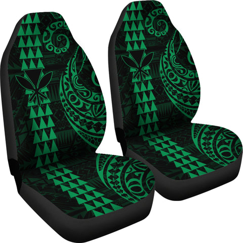 Kanaka Polynesian Car Seat Covers Green - AH J4 - Alohawaii