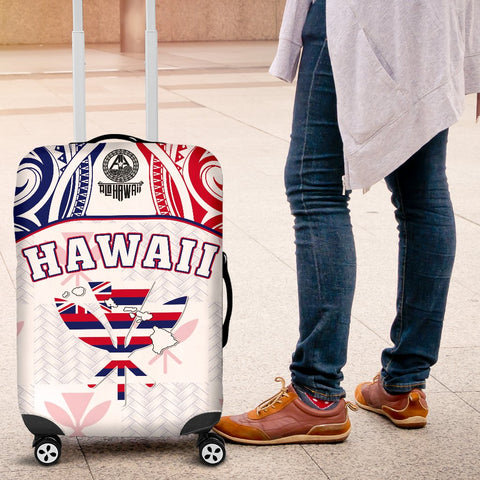 Hawaiian Kanaka Luggage Covers Flag Nation Demodern White AH J1