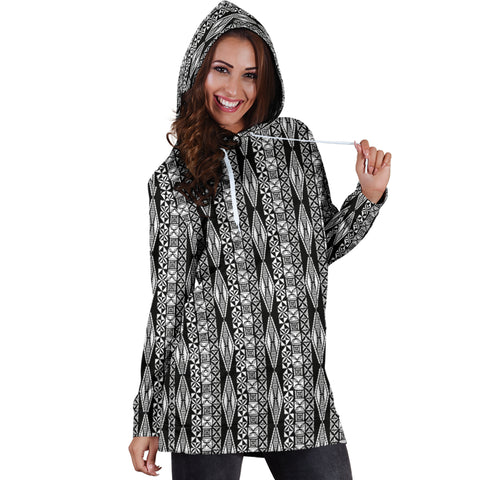 Image of Polynesian Tribal Hoodie Dress 03 - AH - J7 - Alohawaii