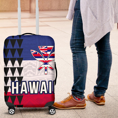 Hawaii Flag Polynesian Luggage Cover - AH J4 - Alohawaii