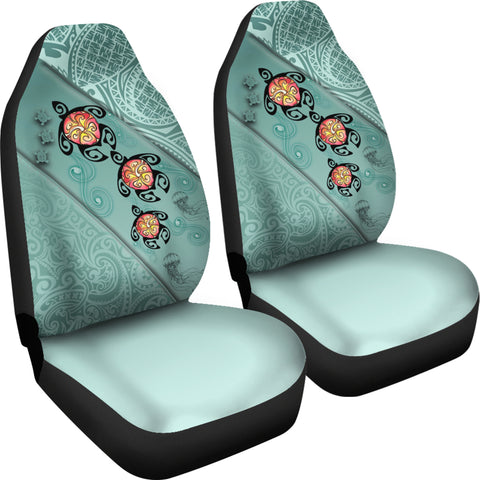Hawaii Turtle Swimming Tribal Polynesian Car Seat Covers - AH - Min Style - J5