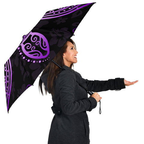 Turtle Hibiscus Violet Umbrella - AH - J1 - Alohawaii