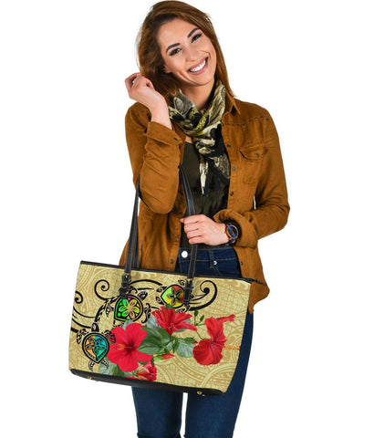 Hawaiian Leather Tote Bag Large | Alohawaii.co