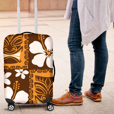 Hibiscus And Tiki Luggage Covers 01 - AH - J9 - Alohawaii