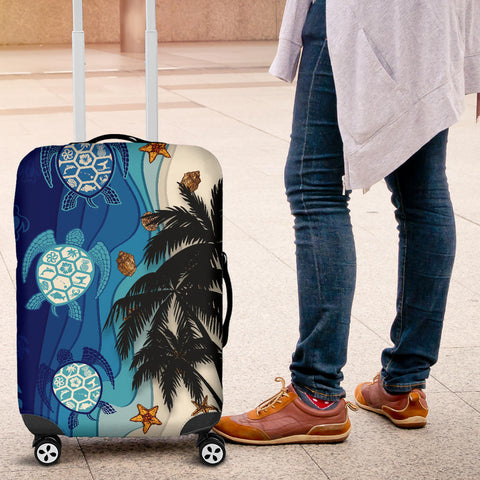 Hawaiian Sea Turtle Symbol Palm Luggage Covers - AH J9 - Alohawaii